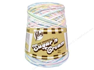 Yarn & Needlework: Lily Sugar 'n Cream Yarn Cone 14 oz. #02199 Pretty Pastels
