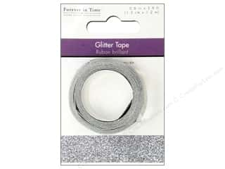 "Sparkle Sale Darice Sparkle Tape: Multicraft Adhesive Tape Glitter 5/8"" Sterling Silver 3.9ft"