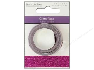 """Weekly Specials Glitter: Multicraft Adhesive Tape Glitter 5/8"""" Magenta 3.9ft"""