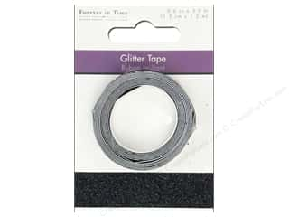 """Weekly Specials Glitter: Multicraft Adhesive Tape Glitter 5/8"""" Black 3.9ft"""