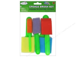 craft & hobbies: Craft Medley Sponge Brush Set 5 pc.