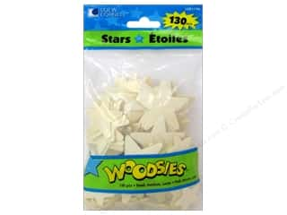 craft & hobbies: Woodsies Wood Shapes Stars 130 pc.