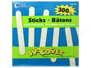 Kids Crafts: Woodsies Craft Sticks Jumbo 300 pc.