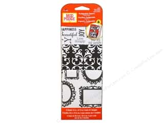 Clearance Clearsnap Design Adhesives : Plaid Mod Podge Podgeable Papers Damask Black/White