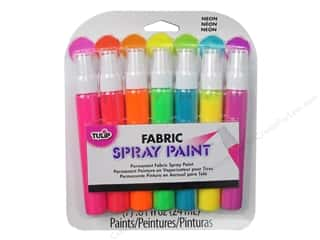 craft & hobbies: Tulip Fabric Spray Paint 7 pc. Mini Neon