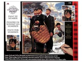 Projects & Kits: Plaid Paint By Number 16 x 20 in. Saturday Evening Post The Three Umpires