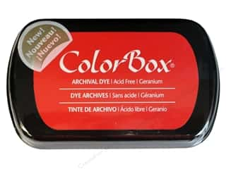 Clearance ColorBox Premium Dye Ink Pad: ColorBox Archival Dye Ink Pad Full Size Geranium
