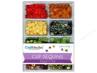 craft & hobbies: Craft Medley 7 mm Cupped Sequins Citrus
