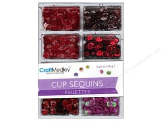 Craft Medley 7 mm Cupped Sequins Rouge