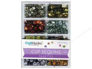 craft & hobbies: Craft Medley 7 mm Cupped Sequins Dazzle Metallics