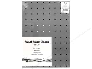 Sierra Pacific Crafts Office Stainless Steel Board With Holes, Hooks & Magnets