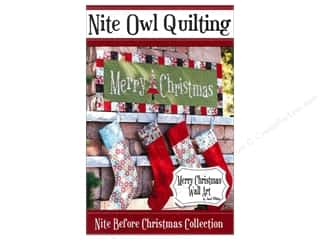 Better Homes : Nite Owl Quilting Merry Christmas Wall Art Pattern
