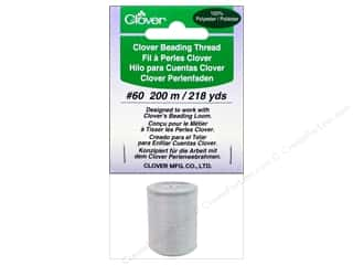 Quilting Supplies Clover: Clover Beading Thread #60 218 yd. White