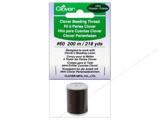 Quilting Supplies Clover: Clover Beading Thread #60 218 yd. Brown