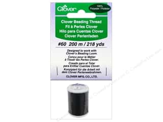 Quilting Supplies Clover: Clover Beading Thread #60 218 yd. Black