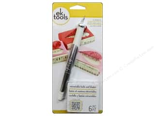 Crafts knife: EK Retractable Knife with 5 Replacement Blades