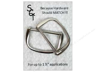 "1.5"" D rings: Sisters Common Thread Hardware D Ring 1.5"" Nickel 2pc"