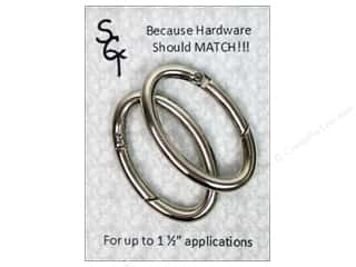 "Sisters Common Thread Hardware Spring Ring 1.5"" Nickel 2pc"