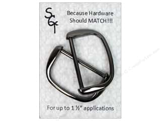 "1.5"" D rings: Sisters Common Thread Hardware D Ring 1.5"" Gun Metal 2pc"