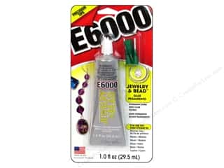 E6000  Eclectic AdhesiveJewelry & Bead Glue 1oz With Tip Carded
