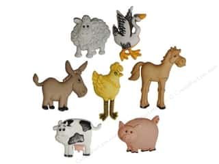 scrapbooking & paper crafts: Jesse James Dress It Up Embellishments Funny Farm