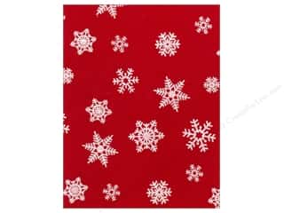 glitter felt: Kunin Felt 9 x 12 in. White Snowflake Red (24 sheets)