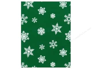 glitter felt: Kunin Felt 9 x 12 in. White Snowflake Pirate Green (24 sheets)