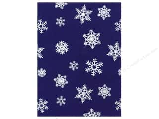 glitter felt: Kunin Felt 9 x 12 in. White Snowflake Royal Blue (24 sheets)