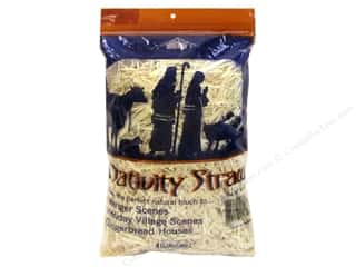 raffia: FloraCraft Straw Nativity Bag 4oz