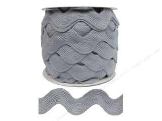 "Cheep Trims Ric Rac jumbo: Cheep Trims Ric Rac Jumbo 1 13/32"" Light Grey- 24yd (24 yards)"