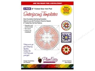 Sew-In Interfacing / Sew-In Stabilizer: PlumEasy Patterns Interfacing Template Hot Pad 3pc