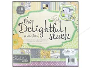 Clearance Die Cuts with a View Stacks: Die Cuts With A View 12 x 12 in. Cardstock Mat Stack Delightful