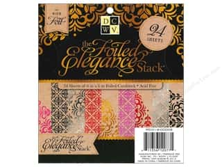 Clearance Die Cuts with a View Stacks: Die Cuts With A View Paper Stack Foiled Elegance