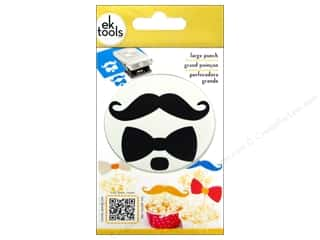 scrapbooking & paper crafts: EK Success Large Punch Bow And Mustache 2 3/8 in.