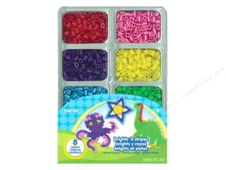 beading & jewelry making supplies: Perler Bead Tray 2000 pc. Brights N Stripes