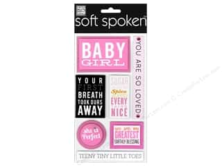 Me & My Big Ideas Soft Spoken Stickers Block Baby Girl