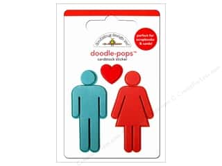 3-D Stickers / Fuzzy Stickers / Foam Stickers: Doodlebug Doodle-Pops 3-D Stickers His & Hers