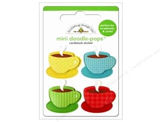 3D Stickers: Doodlebug Doodle-Pops 3-D Stickers Cup Of Joe
