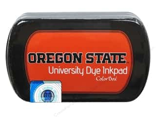 stamp cleaned: ColorBox Dye Ink Pad Oregon State University Orange