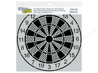 Clearance The Crafters Workshop Template: The Crafter's Workshop Template 12 x 12 in. Dartboard