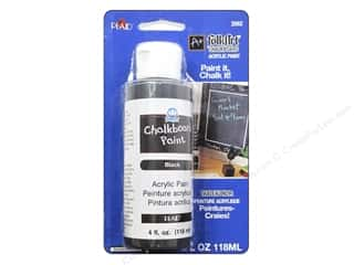 Plaid FolkArt Chalkboard Paint 4 oz. Black