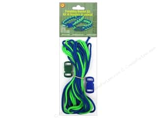Pepperell Parachute Cord Accessories Friendship Bracelet Kit Blue/Green
