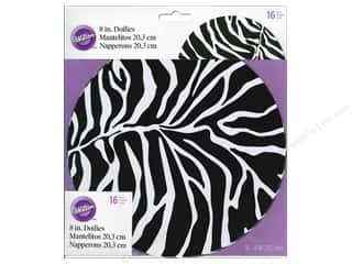 "Clearance Wilton Decorating Gel: Wilton Decorations Doily 8"" Zebra 16pc"