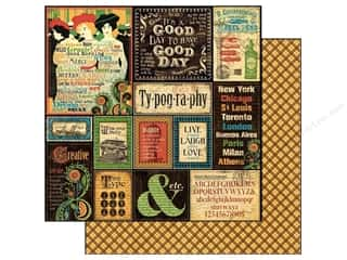 Holiday Sale Printed Cardstock: Graphic 45 12 x 12 in. Paper Typography (25 sheets)
