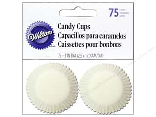 "Baking Wraps / Cupcake Wrappers: Wilton Containers Candy Cups Glassine 1.25"" White 75pc"