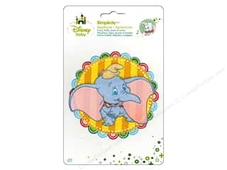 Simplicity Disney Baby Iron On Dumbo In Striped Circle
