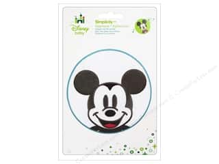 Simplicity Disney Baby Iron On Mickey Head In Blue Circle
