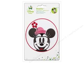 Simplicity Disney Baby Iron On Minnie Head In Pink Circle