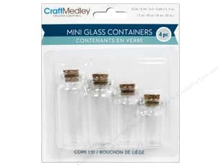 Cork Stoppers: Craft Medley Glass Bottles with Cork Stoppers 4pc
