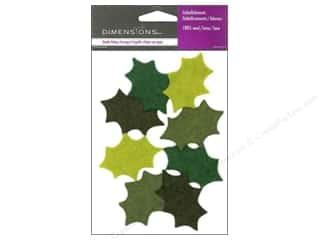 wool felt: Dimensions 100% Wool Felt Embellishment Holly Leaves